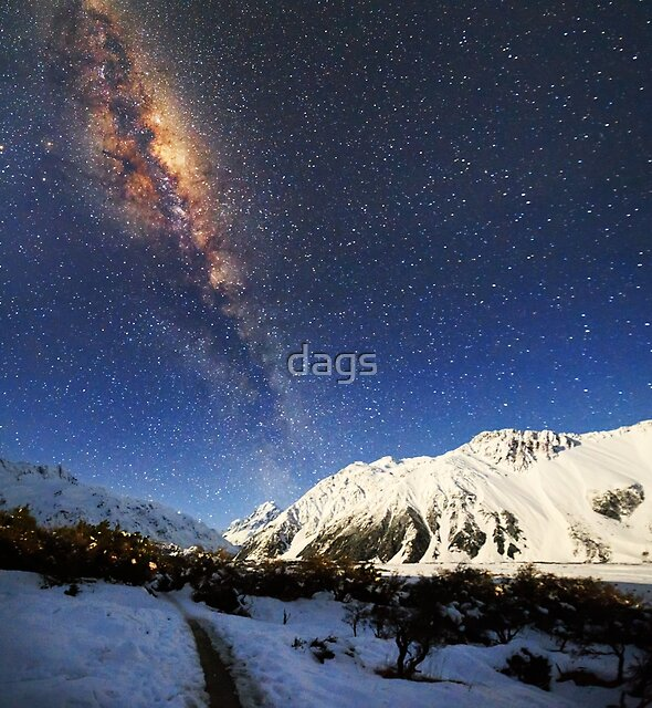 Milky Way over Mt Cook New Zealand by dags