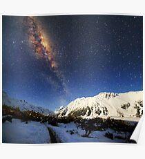 Milky Way over Mt Cook New Zealand Poster
