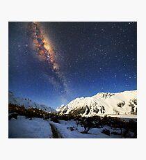 Milky Way over Mt Cook New Zealand Photographic Print