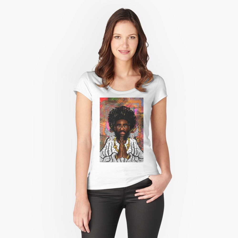 Black Jesus Fitted Scoop T-Shirt