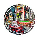 Times Square New York City Badge Emblem by Ray Warren