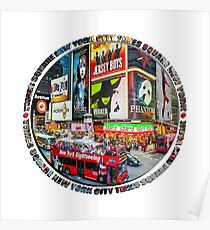Times Square New York City Badge Emblem Poster