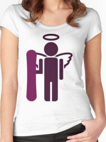 snowboard : board angel  Women's Fitted Scoop T-Shirt