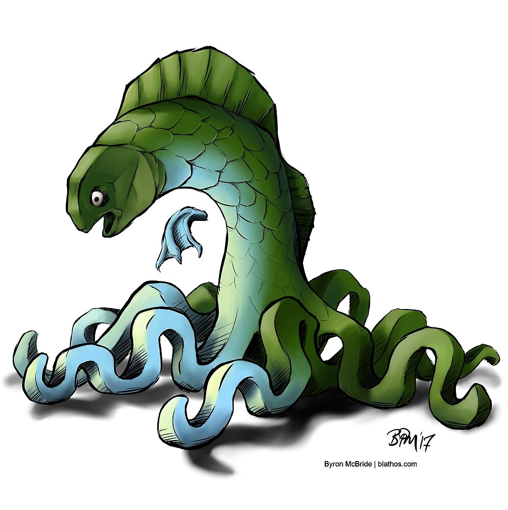 The Octo-fish Monster by Byron  McBride