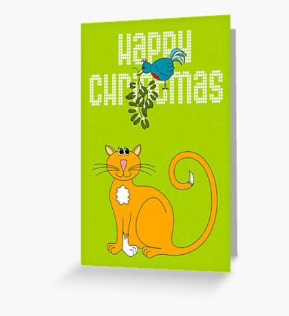 Happy Christmas in White Greeting Card