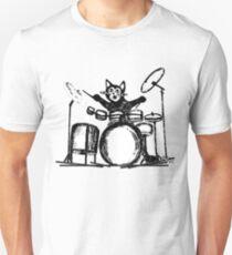 Drummer Cat Unisex T-Shirt