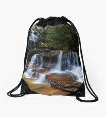 Tranquil waterfall Drawstring Bag