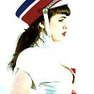 Marching girl by Leila  Koren