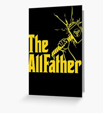 The AllFather Greeting Card
