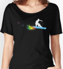 snowboard : powder trail Women's Relaxed Fit T-Shirt
