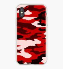 Red Camo iPhone Case