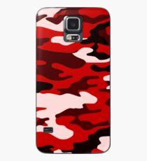 Rote Camouflage Hülle & Skin für Samsung Galaxy