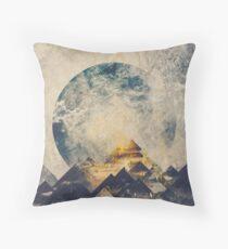 One mountain at a time Throw Pillow