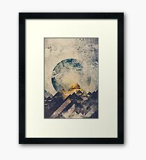 One mountain at a time Framed Print