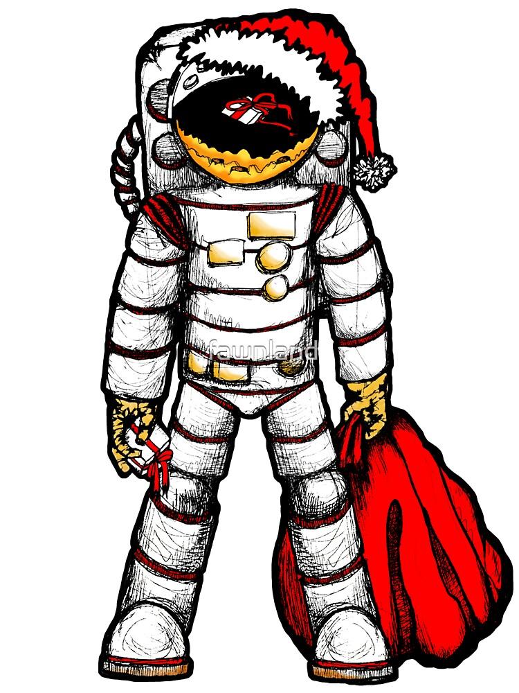 Astronaut Santa by fawnland