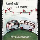 Happiness is a journey not a destination quote by Jenny Wood