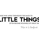 little things, great ones - francois rochefoucauld by razvandrc