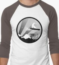 snowboard : powder trail Men's Baseball ¾ T-Shirt