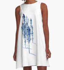 Blue Trees A-Line Dress