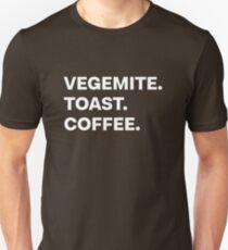 Vegemite Toast Coffee - White Unisex T-Shirt