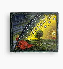 The Flammarion engraving, hand coloured Metal Print
