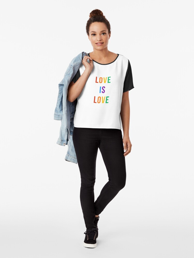 Alternate view of love is love  Chiffon Top