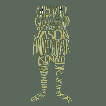 The many names of Jason Funderburker - OTGW inspired typography design by bubivisualarts