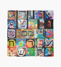 Modern Hebrew Alephbet  Scarf