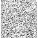 Shanghai Karte Minimal von HubertRoguski
