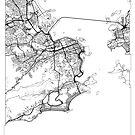 Rio de Janeiro Karte Minimal von HubertRoguski