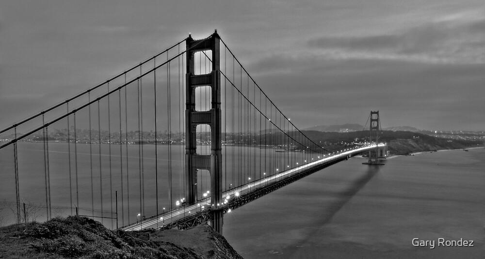 Golden Gate B&W by Gary Rondez