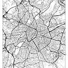 Brussels Map Minimal by HubertRoguski