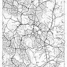Canberra Karte Minimal von HubertRoguski