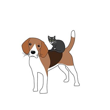 cat and beagle by Myepicass
