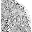 Buenos Aires Map Minimal by HubertRoguski