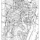 Chongqing Map Minimal by HubertRoguski