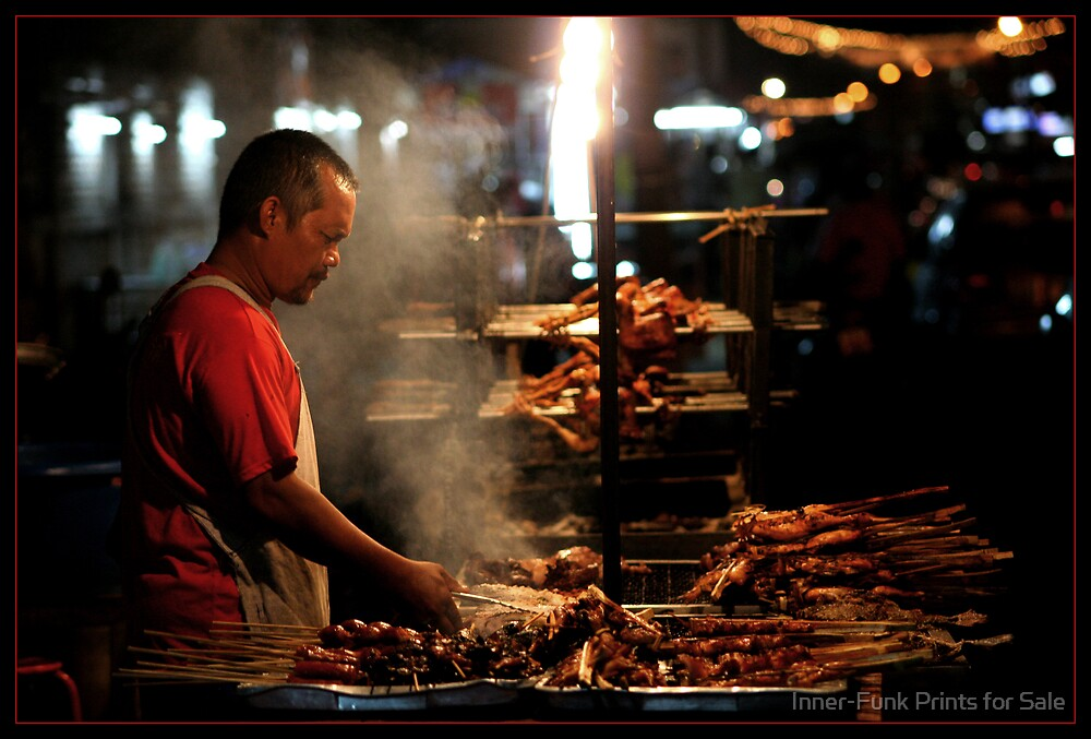 Street BBQ by Inner-Funk Prints for Sale