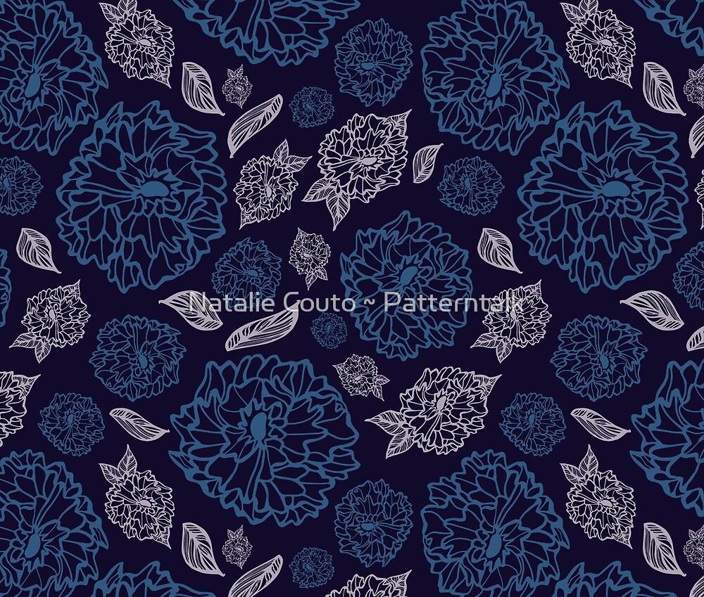 Filigree Flowers by Natalie Couto ~ Patterntalk