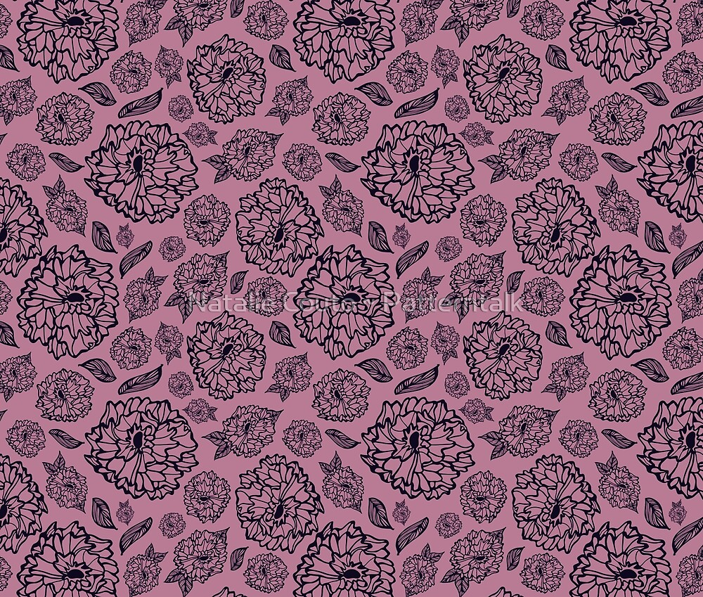 Burnished Pink -Petallica by Natalie Couto ~ Patterntalk