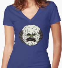 Angry Wampa Women's Fitted V-Neck T-Shirt