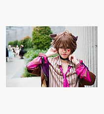 Cheshire Cat Cosplay Photographic Print