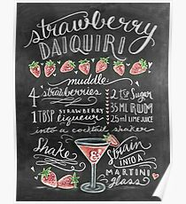 Erdbeer-Daiquiri Poster