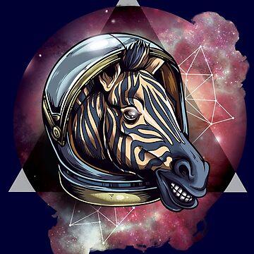Zebra In Space by Skullz23