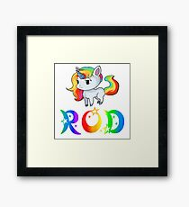 Rod Unicorn Framed Print