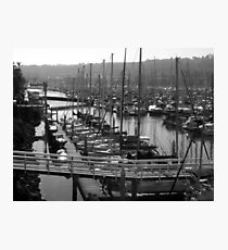 Boats in the Harbor Photographic Print