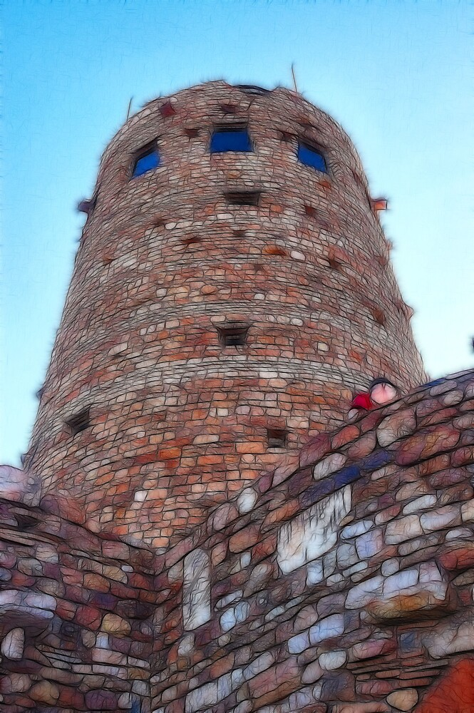 Grand Canyon Watch Tower by Jawaher