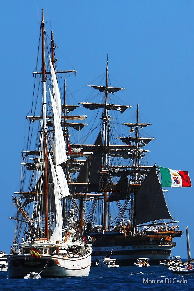 Tall ships  5 by Monica Di Carlo