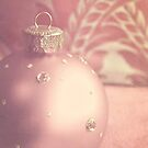Pink and gold ornate Christmas bauble by Lyn  Randle
