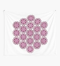 pink psychedelic geometric design Wall Tapestry