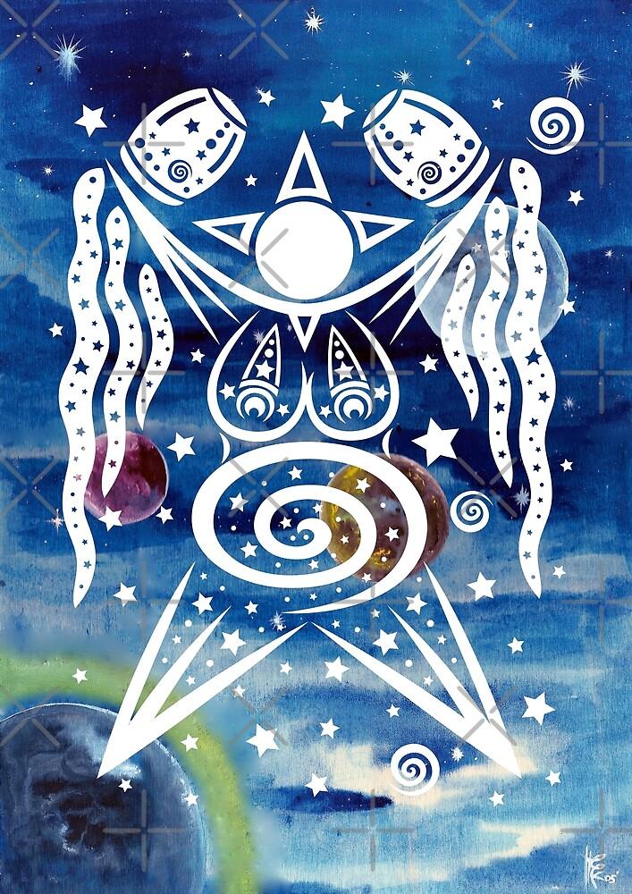 Pagan Art. Sternengöttin mit Wasser und Sternen. von Christine Krahl